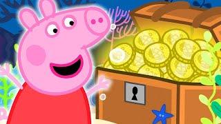 Peppa Pig in Hindi - Treasure Hunt Khajane ki khoj - हिंदी Kahaniya - Hindi Cartoons for Kids