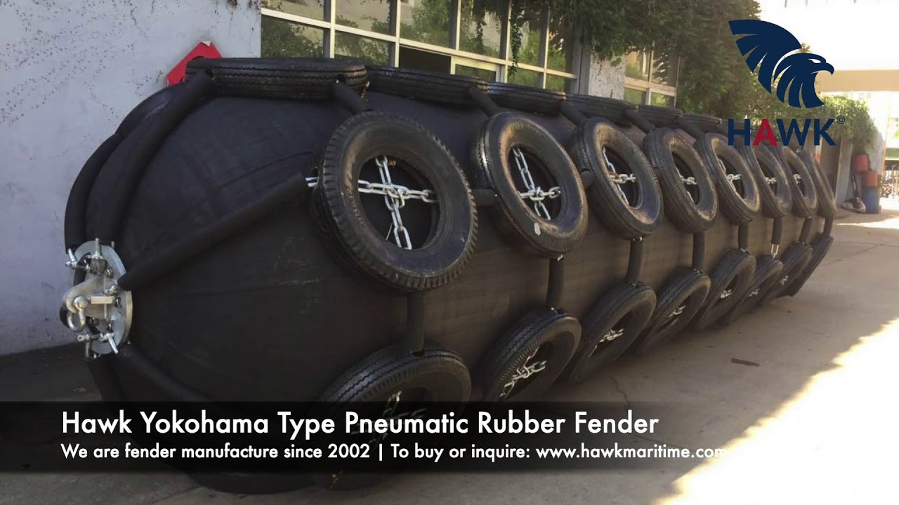 Hawk Fender | Hawk Maritime | Pneumatic Rubber Fender Show Case | Yokohama Type Fender