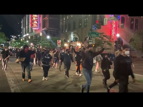 Raw Video (explicit): Peaceful George Floyd Protesters March Through Boise, Gather At Idaho Capitol