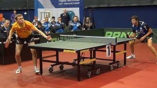 Vladimir SAMSONOV vs Alexander SHIBAEV FINAL 1of3 Games Russian Premier League Playoff Table Tennis