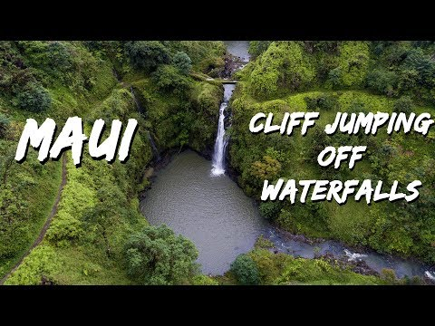 Maui cliff jumping off waterfalls