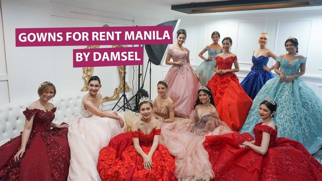 Where To Rent Gowns In Manila Gowns For Rent Manila By Damsel Store