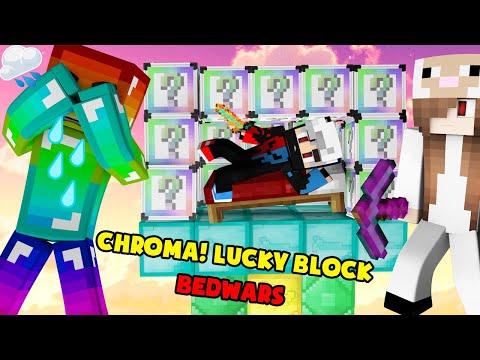 MINI GAME : CHROMA LUCKY BLOCK BEDWARS ** NOOB MÃI MÃI CHỈ LÀ NOOB MÀ THÔI