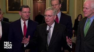 WATCH: Senate GOP leaders hold press conference after party policy luncheon