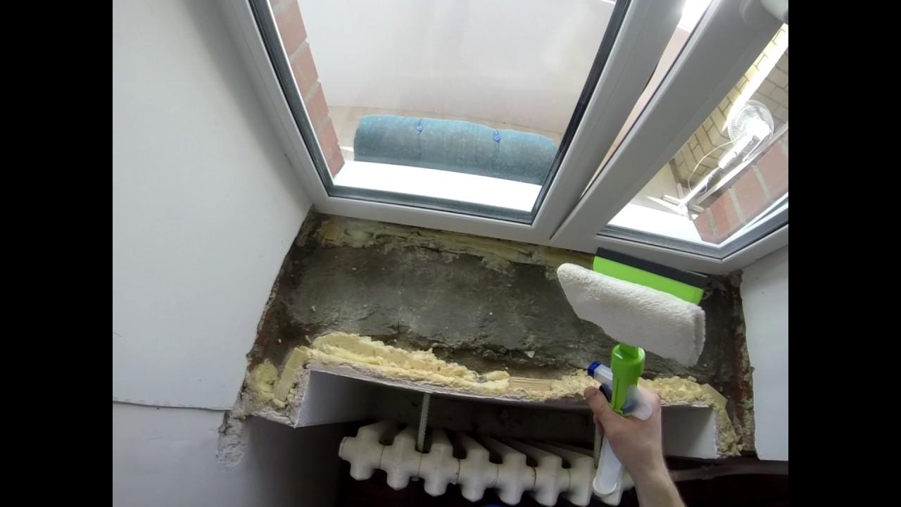 Как заменить подоконник в пластиковом окне пластиковое окно ручка прокручивается
