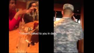 Army Soldier Surprise Christmas Homecoming