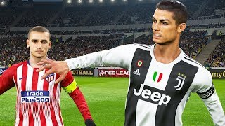 PES 2019 | ATLETICO MADRID VS JUVENTUS | Full Match and Amazing Goals | Gameplay PC