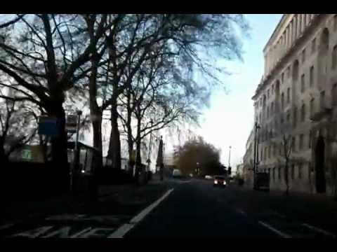 Driving in London -  Hampstead Heath to Brixton