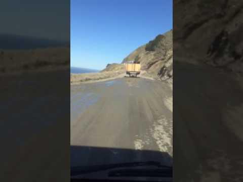 Mud Creek slide Big Sur 2017