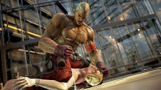 [4K60p] Tekken 7 - Bryan Fury continues to viciously punch the female fighters thumbnail