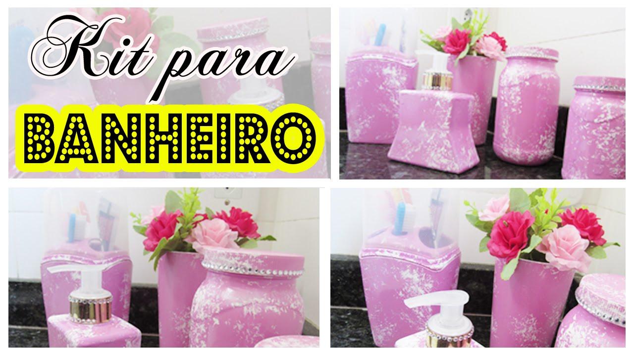 DIY  KIT PARA BANHEIRO PERSONALIZADO  Decore seu banheiro  YouTube # Kit Acessorios Pia De Banheiro