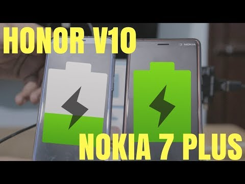 Nokia 7 Plus VS Honor View 10 Charging Speed Test Hindi India