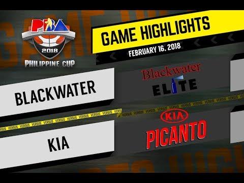 PBA 2018 Philippine Cup Highlights: Blackwater vs Kia Feb. 16, 2018