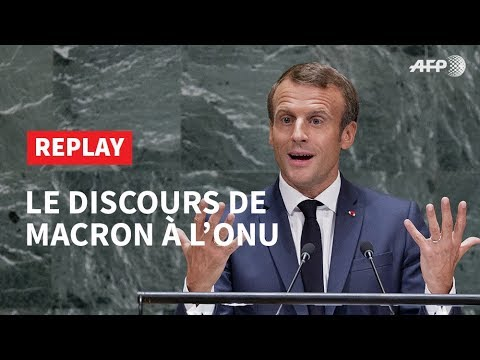 🔄 REPLAY - Le discours de Macron à l'ONU