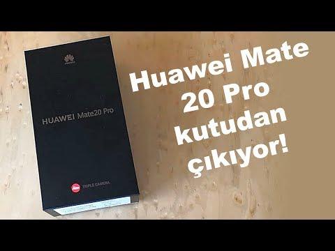 Huawei Mate 20 Pro kutudan çıkıyor   Parmak izini ekrandan okuyor!