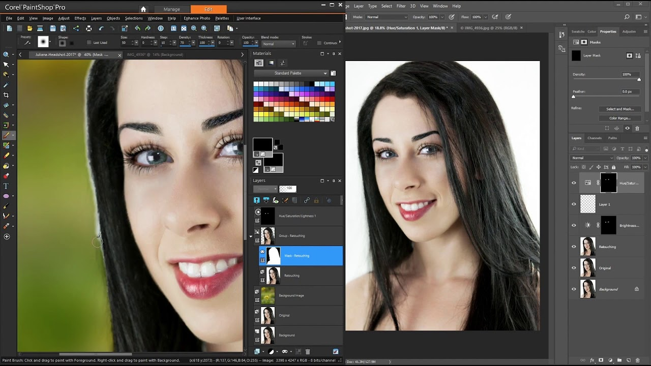 Paintshop Pro And Photoshop Comparison Youtube