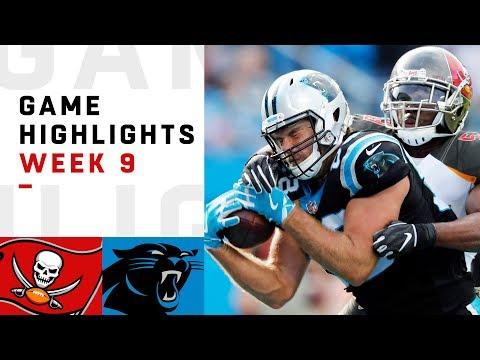Buccaneers vs. Panthers Week 9 Highlights | NFL 2018