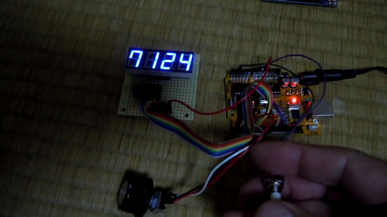JH8SST/7 - N6QW's Si5351 Arduino controlled VFO with 7seg Display Demo by  FujichromeR100