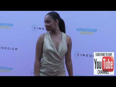 Bria Murphy arriving to the Amateur Night Premiere at ArcLight Theatre in Hollywood