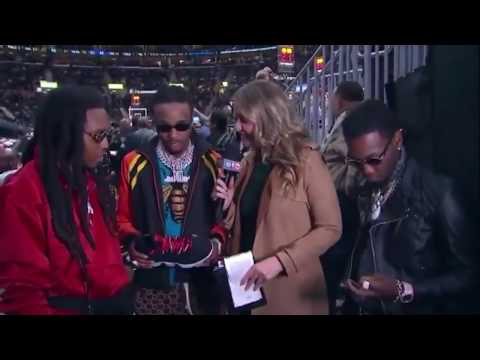 Migos Interview at Cavaliers vs. Warriors Game on NBA on TNT