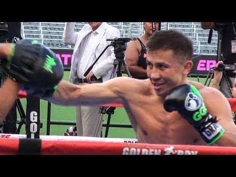 GGG Golovkin SHOWS OFF POWER! Workout for REAL Win vs Canelo Alvarez 2