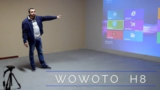 WOWOTO H8 Android projector test at 15 feet with 165 inch display