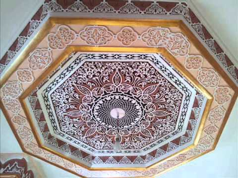 Platre marocain plafond youtube - Decoration des plafonds en platre ...