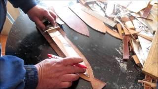Como hacer una funda de cuchillo para Daga de Caza Mayor. Vídeo 2 de 7