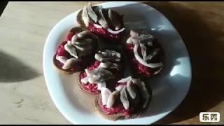 #Закуска с #сельдью   Украшаем #праздничный стол  Рецепты к #Новому году