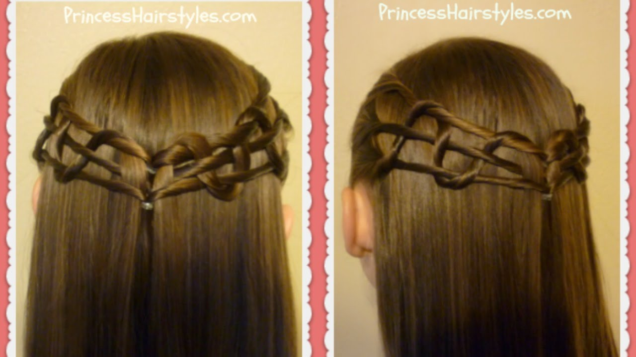 Snake Weave Tie Back Hairstyle Tutorial Youtube