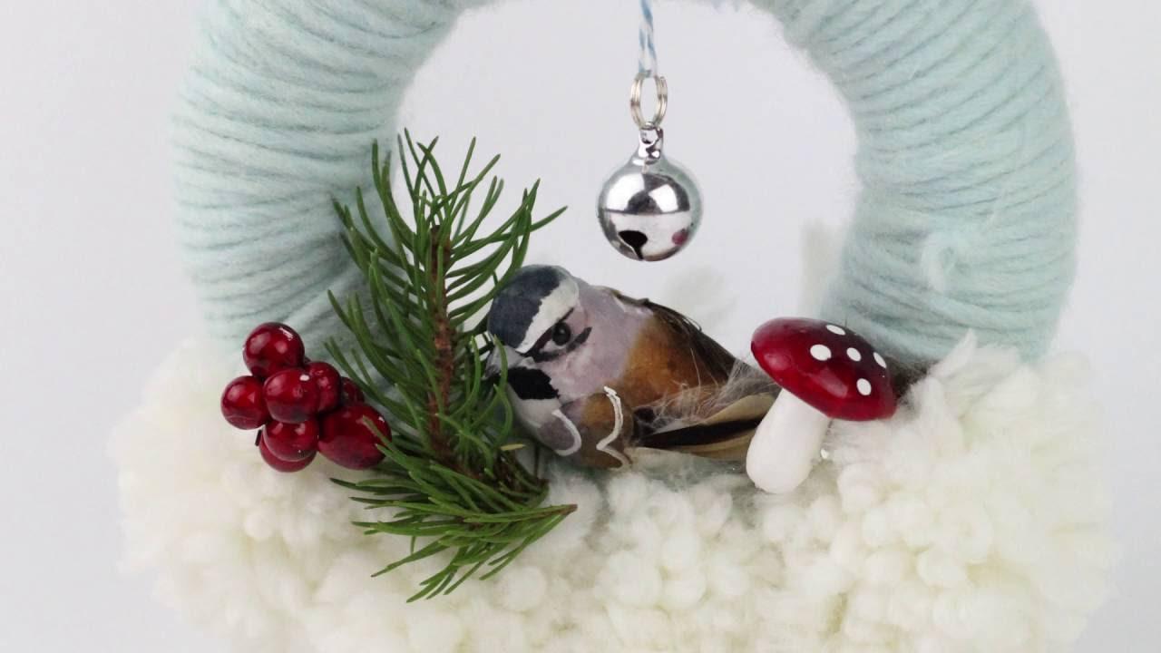 Ghirlande natalizie con lana