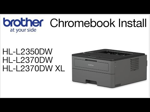 Brother HLL2370DW - Chromebook wireless setup - YouTube