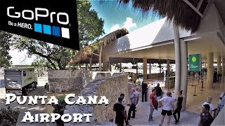 Punta Cana - Airport with thatched roof, Dominican Republic / Аэропорт с соломенной крышей