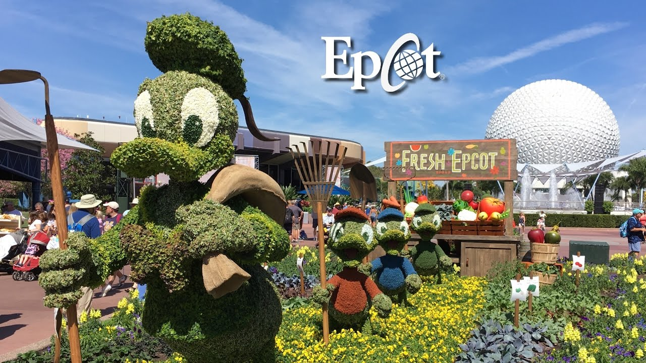 Epcot Flower And Garden Festival 2017 All Outdoor Kitchens Topiaries And More Youtube