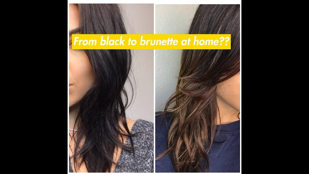 Loreal Effasol Hair Color Remover At Home From Black To Brunette Youtube