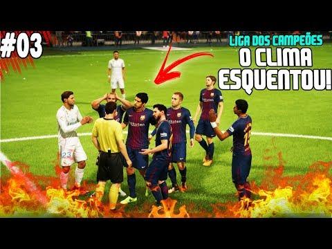FIFA 18 - CHAMPIONS LEAGUE - REAL MADRID vs BARCELONA!! QUE JOGAÇO 🔥🏆