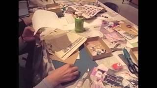 うさぎの会 大阪 「コラージュの世界 アートなカード作り」 2012.03.29(thu)