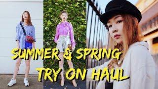 春夏服饰购物分享+穿搭| Summer&Spring Try on Haul| Free People|Sarahs look