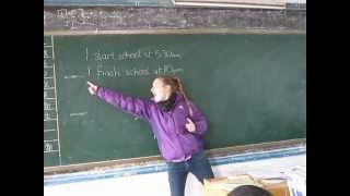 Tefl: First Lesson In China (beginning Of Lesson)