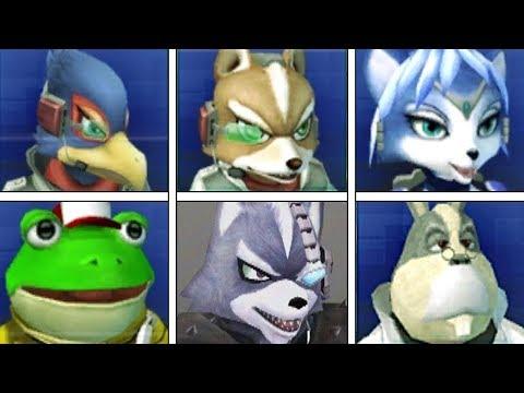 Evolution Of Star Fox Secret Taunts In Super Smash Bros & Comparison (Fox, Falco, Wolf)