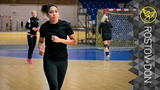 Предматчевая тренировка в Тольятти
