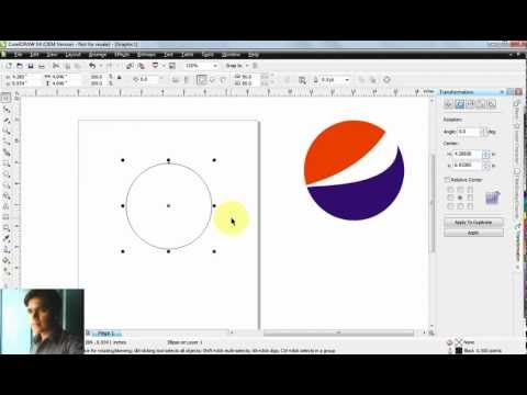 How to create Pepsi Logo in Corel Draw