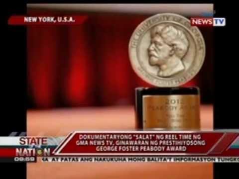"""Dokumentaryong """"Salat"""" ng Reel Time ng GMA News TV, ginawaran ng  George Foster Peabody Award"""
