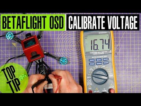 Calibrating your BetaFlight OSD battery voltage display - Самые