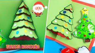 CARTA ARBOLITO PARA NAVIDAD - CARTA 3D - POP UP- ✂️ Crafty DIY Reciclaje