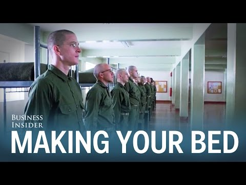This admiral's inspiring speech will convince you to make your bed every morning