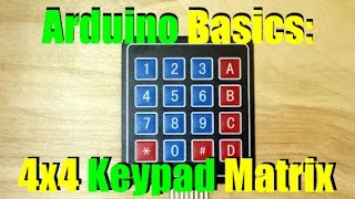 Arduino Basics   Keypad Matrix Introduction