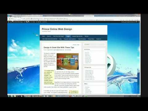 Prince Online Web Design, professional website designer, website design and development