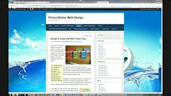 Prince Online Web Design, professional website designer, website design and development