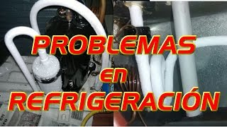 Problemas en refrigeración y aire acondicionado por falta, exeso de gas y suciedad en sistema